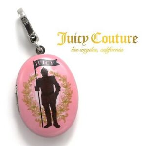 RARE Juicy Couture Pink Hamlet Knight Locket Bracelet Necklace Handbag Charm