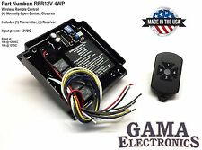RF Remote Control Transmitter Receiver 4 Functions - RFR12V-4WP