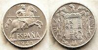 Spain-Estado Español. 10 Centimos 1945 Madrid. SC/UNC/FDC Aluminio 2 g. PERFECTA