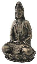 """NEW! 3"""" Quan Yin On Lotus Statue Figurine Eastern Tibetan Gift Kwan Guan 1918"""