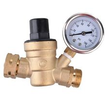 Water Pressure Regulator Brass Lead-free Adjustable RV valve DN20 1.6mpa Gauge