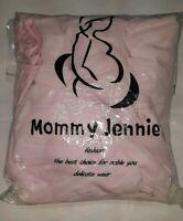 YUNF WOMENS SHEER LONG TUBE SLEEVELESS MATERNITY DRESS PINK S/M unsealed nip