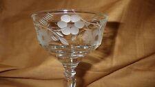 Crystal Champagne Glass Tall Sherbet Libbey Rock Sharpe Buttercup pattern 1 4 oz