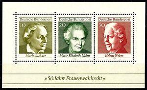 Germany 1969 Famous Women Souvenir Sheet Scott's 1007 MNH CRISP!