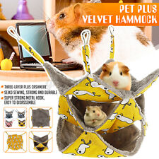Pet Hamster Hammock Three-layer Soft Warm Hanging Nest Sleeping Bed kk k&