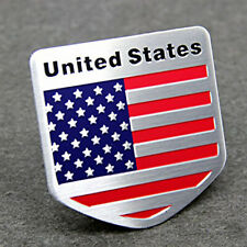 Car Body Metal American Flag Shield Emblem USA Logo Sticker Badge Accessories