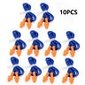 10Pcs Soft Silicone Corded Ear Plugs Reusable Hearing Protection Earplugs Good