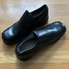 Deer Stags Torino Black Leather Loafer Shoes, Mens Size 10.5 W, Supro Sock