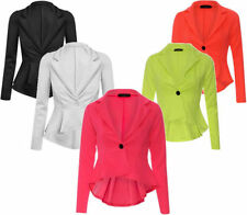 Polyester Button Cropped Plus Size Coats & Jackets for Women
