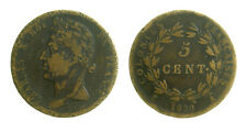 s57_37) France  Colonial - Charles X 5 Centimes 1830 A