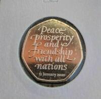 BREXIT Münze United Kingdom 50 Pence 2020 UNC New Coin Großbritannien