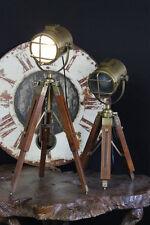 Rustic Hand Made Tripod Nautical Spot ,Light Table Lamps Bedside Tripod Lamp