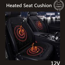 Heated Auto Sedan Seat Chair Cushion 12V Heating Warmer Pad Hot Cover Mat Black