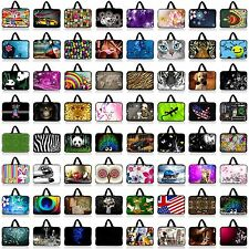"Many Designs 15"" 15.6"" Laptop Notebook Carry Sleeve Case Bag Cover with Handle"