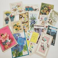 Get Well Vintage Greeting Cards Lot 16 Variety 70s USA