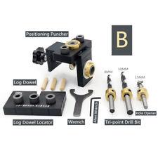 Pocket Hole Drill Dowel Jig Vertical Drilling Bit Woodworking Locator Tool Kit