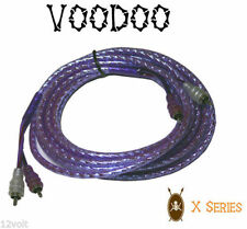 New VOODOO 16.4 ft 5 Meter RCA INTERCONNECT cable PURPLE 99.9999% OFC