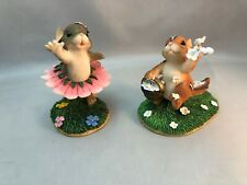 Two Charming Tails Figures Wedding Day Blossoms & Always On Your Toes Non-smoker