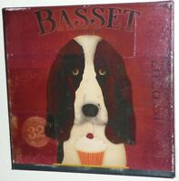 Stephen Fowler Gemini Studio Hand Made Canvas Art Signed Original Basset Hound