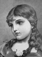 LOVELY GIRL Cordelia - VICTORIAN Era Print