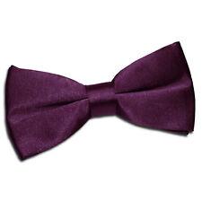 c47405ee42d0 DQT Purple Mens Bow Tie Solid Plain Plaid Patterned Floral Paisley Polka Dot