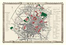 George Bradshaw'S CONTINENTAL Piano della città di Milano 1896 - 1000 Pezzo Puzzle