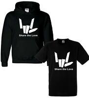 Share The Youtuber Love Girls Boys Kids Youth Hoodie Hoody T shirt Tee Top Black