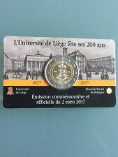 Belgien 2 Euro 2017 Gedenkmünze - FR / UNC  Universität Lüttich in Coincard