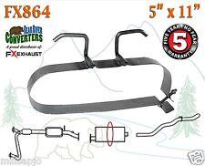 "Muffler Strap Exhaust Repair Replacement 5"" x 11"" w/ Bracket Hanger Rod FX864"