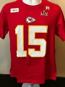 NFL SB LV Kansas City Chiefs Nike TEE YOUTH Shirt Patrick Mahomes #10 Size S