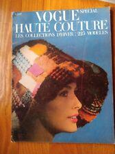 VOGUE PARIS MAGAZINE Haute Couture WINTER 1964 -225 models