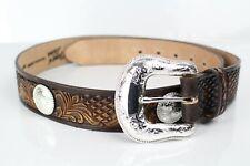 Tony Lama Men's Silverthorne Brown Diamond Accessories Belt 36 Brown C42635