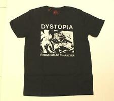 Good Things Men Dystopia Stress Builds Character Bootleg T-Shirt AB3 Black Small
