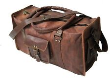 Ganesh Leather Large Travel Hand Luggage Duffel Gym Bag Holdall Weekend CarryOn