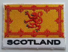NATIONAL OLYMPIC COUNTRY FLAG (SMALL) SEW ON / IRON ON PATCH:- SCOTLAND