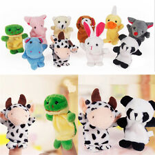 10 Pcs Finger Puppets Cloth Plush Doll Baby EducationalHand Cartoon Animal Toys~