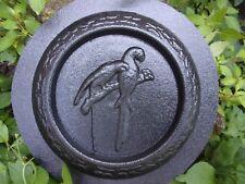 "Parrot birdbath mold concrete bird feeder mould 9"" x 1"" thick"