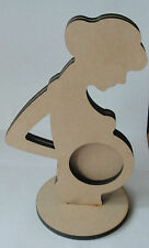 Pregnant Lady Photo Frame with stand  wooden MDF craft shape / blank Laser cut