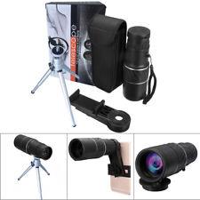 Visión Nocturna 16x52 Zoom Monocular Telescopio Lente Cámara HD alcance + soporte para teléfono