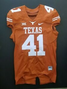 Nike Game Issued Authentic Texas Longhorns UT Football Jersey Orange Home #41