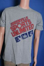 Vintage '80s Greenville Sports Unlimited gray sporting goods t shirt M
