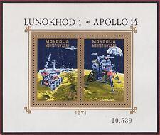 MONGOLIE BLOC N°25** Bf  Espace, Apollo 14... TB, 1971 MONGOLIA Space SHEET MNH