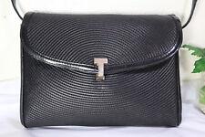 Vintage TIFFANY & Company Black Leather Sling Shoulder Bag