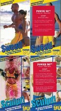 Sweat 1-2 3-4 & Sculpt 1-2 3-4 Power 90 Set of 4 VHS w 3 Sealed Fitness Exercise