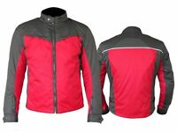 Mens Motorcycle Motorbike Red & Grey Sports CE Armour Cordura Jacket