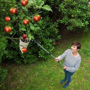 WENKO Obstsammler Obstpflücker Apfelpflücker Erntehelfer XL mit Teleskopstiel