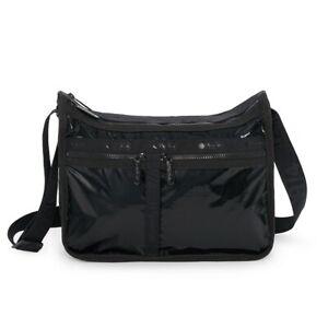 LeSportsac Noir Liquid Patent Deluxe Everyday Crossbody Bag, Anniversary Bag