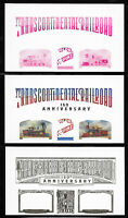Transcontinental Railroad 150th Anniversary, COLOR PROOF PLATE TOP ROW Set of 6