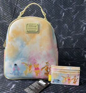 Loungefly Disney Winnie The Pooh and Friends Mini Backpack and Cardholder