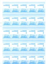 Chemin de fer locomotive imperf bleu épreuve de 50 paires chiffres 407